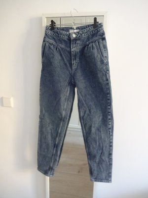 Bershka Hoge taille jeans cadet blauw Katoen