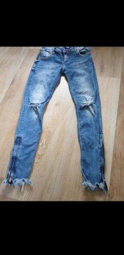 Cipo & Baxx Jeansy o obcisłym kroju stalowy niebieski