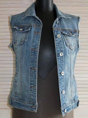 Coole Jeans-Weste von Stradivarius, Vintage-Look, Used