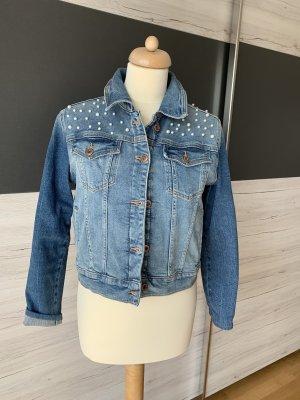 Coole Jeansjacke mit Perlen M/L