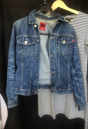 Only Jeansowa kurtka niebieski neonowy