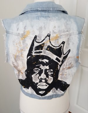coole jeansweste notorious big gr.40 upcycling