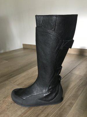 Jil Sander Biker Boots black leather