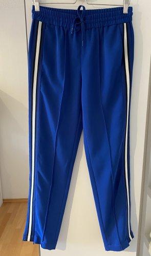 Hallhuber Pantalón tipo suéter azul Poliéster