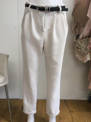 Made in Italy Pantalon boyfriend blanc cassé