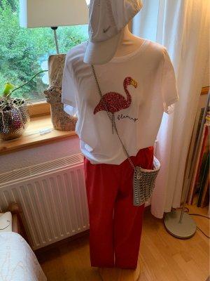 Oska Pantalon strech rouge clair