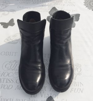 A.S.98 Booties black-silver-colored