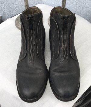 A.S.98 Botines gris antracita-negro