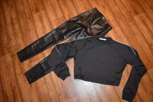 Zara Trafaluc Pantalone in pelle nero