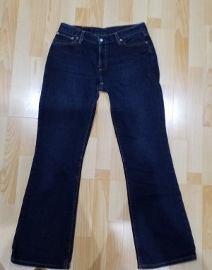 Levi's Lage taille broek donkerblauw