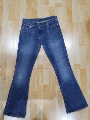 Levi's Lage taille broek blauw
