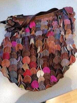 coole limitierte Leder Tasche Limited Edition selten Rar Ledertasche Handtasche Beutel ähnlich Style wie Bottega Veneta