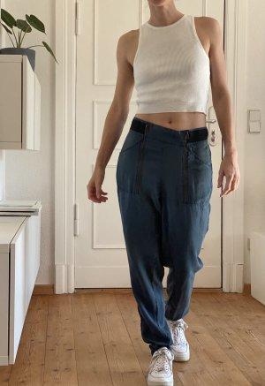 Modström Pantalone peg-top petrolio Lyocell