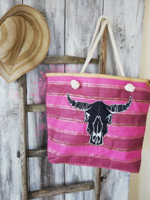 Coole Maxi Beach Bag Stroh korb