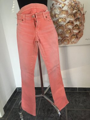 Pepe Jeans Lage taille broek abrikoos-zalm