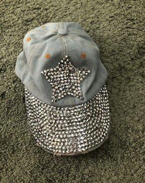 Coole Mütze Cap Denim Strassteinchen Neu