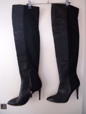 Guess Overknees black-gold-colored leather