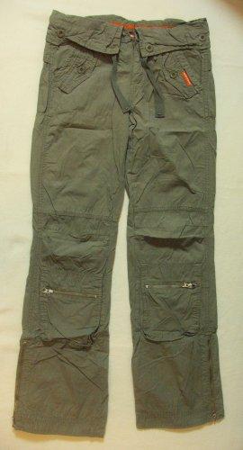 Coole Pants von FREESOUL..Cargo..Military..Combat..Hüfthose..Khaki..Größe W27, DE 34