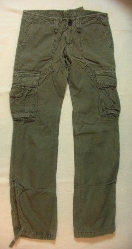 Coole Pants von LE TEMPS DES CERISES..Cargo..Military..Hüfthose..Khaki..Größe W28, DE 36