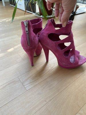 Coole Pink farbene Sandalen, 10 cm Absatz
