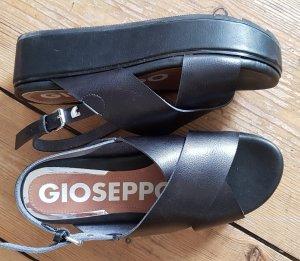 Gioseppo Sandales à talons hauts et plateforme noir