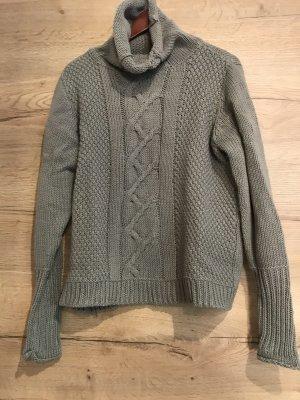 Maglione lavorato a maglia grigio
