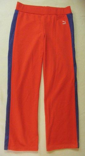 Coole PUMA Sporthose für kleine,zarte Mädels (prof.gekürzt), echtes Vintage Teil, retro, oldschool, orange