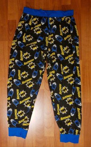 Pijama negro-azul neón