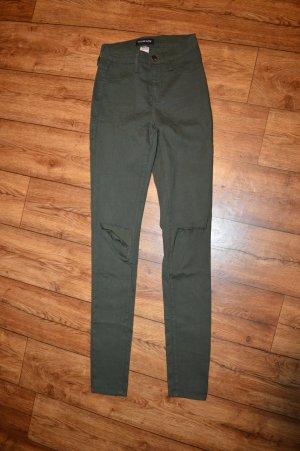 Jeans bootcut vert foncé