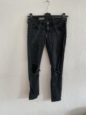 Adriano Goldschmied Pantalón de tubo negro Algodón
