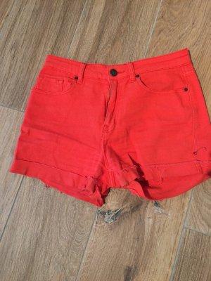 BDG High-Waist-Shorts red