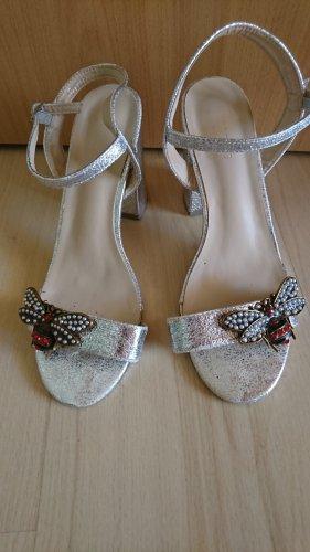 Hotsoles London Sandały z rzemykami srebrny