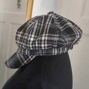 Hallhuber Cappello con visiera bianco-nero