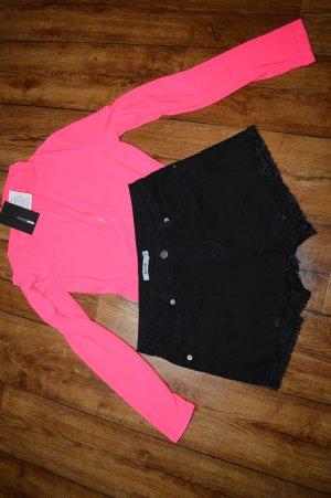 Coole schwarze Jeans Shorts Gr. 38 von Nakd