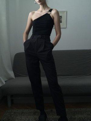 Bikbok Hoge taille broek zwart