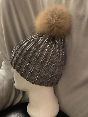100% Fashion Bonnet à pompon multicolore