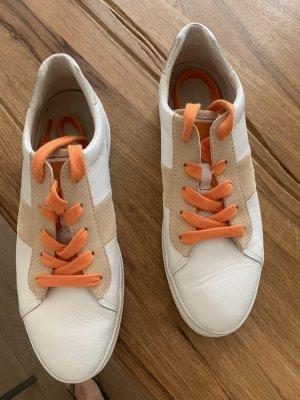 Gant Sneaker stringata bianco-beige Pelle