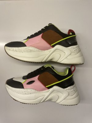 Bershka Heel Sneakers black-white