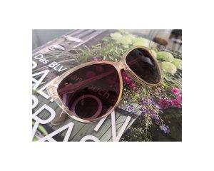 Coole Sonnenbrille – Hallhuber – creme gold pink bordeaux – NP40€
