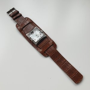 Coole Stahl-Uhr 2 in 1