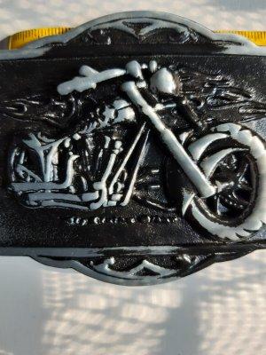 Unbekannte Marke Belt Buckle black-grey metal