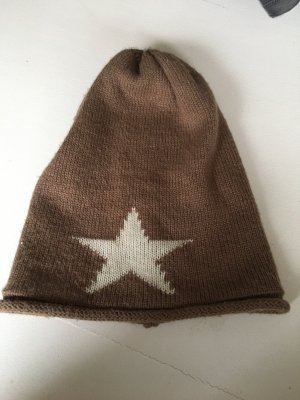 Fabric Hat grey brown-natural white