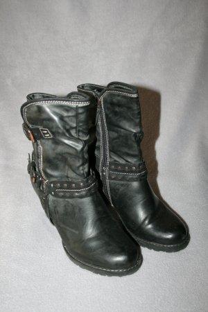 coole Stiefelette Gr. 37 von Tamaris in schwarz/grau