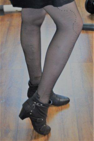 Claudia Ghazzani Stivaletto con zip nero-argento