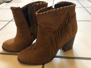 Oxmox Botines estilo vaquero marrón