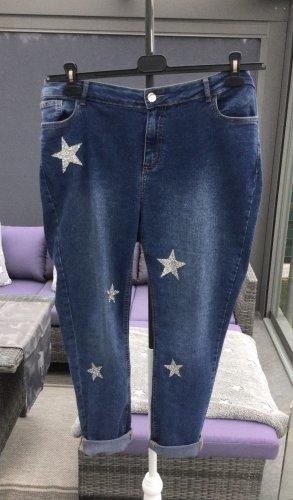 100% Fashion Jeans stretch bleu-argenté