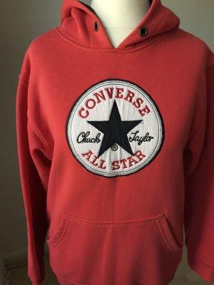 Converse Bluza z kapturem ciemnoczerwony
