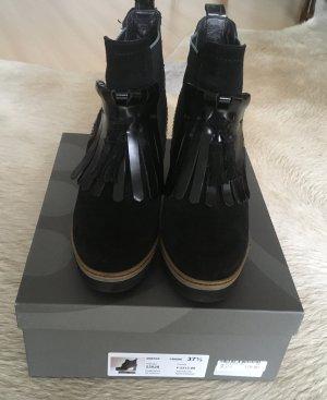 Maripé Bottines à plateforme noir cuir