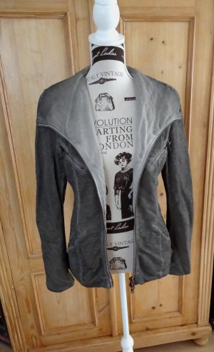 Liebeskind Sweat Jacket grey brown cotton