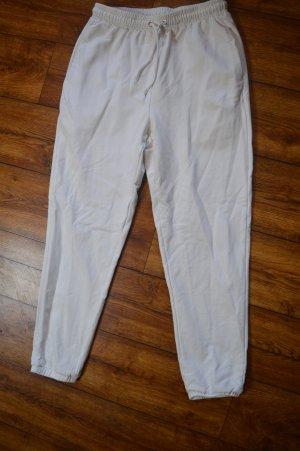 Meshki Pantalone da ginnastica bianco